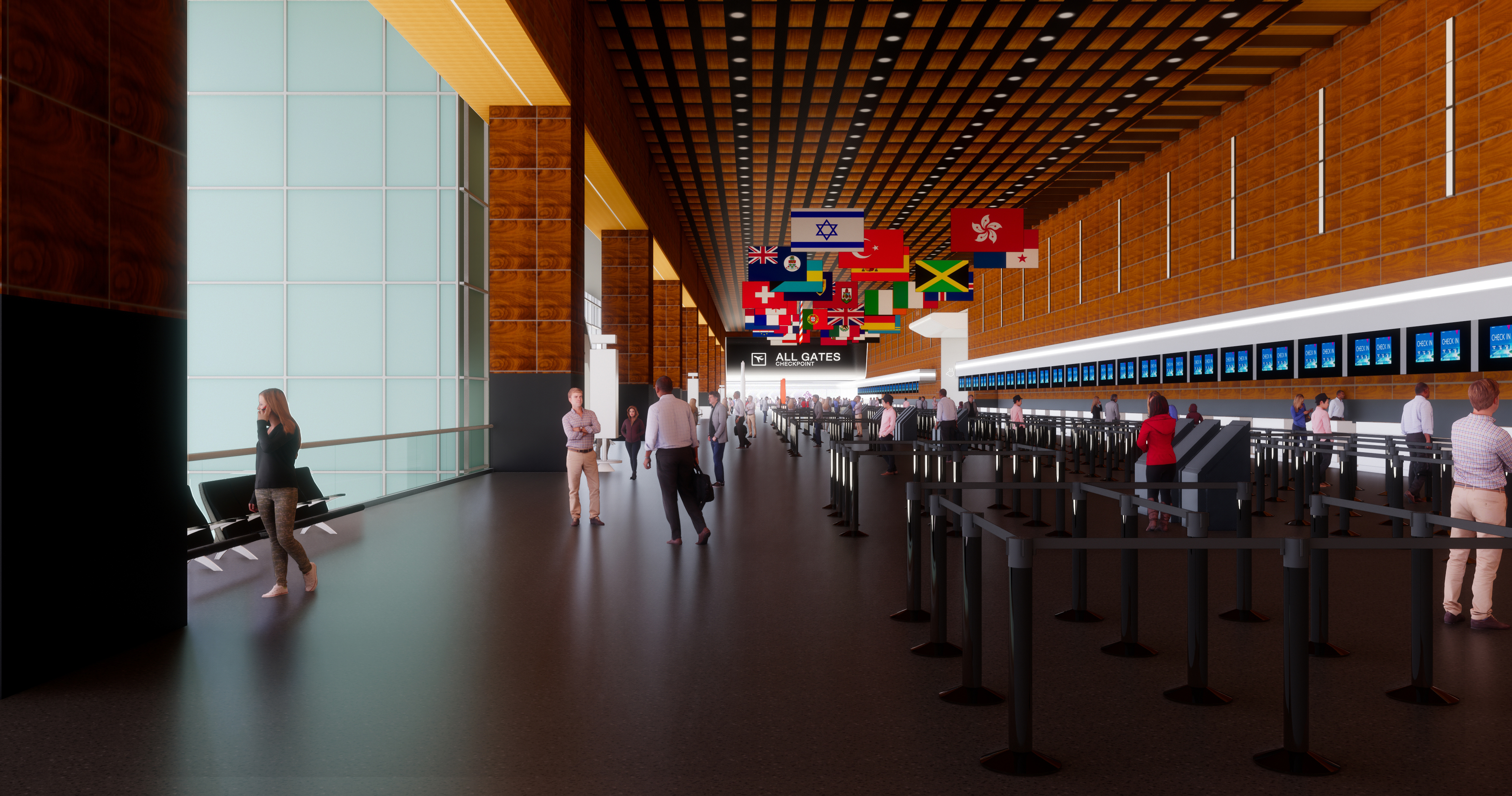 Terminal E Check In Rendering