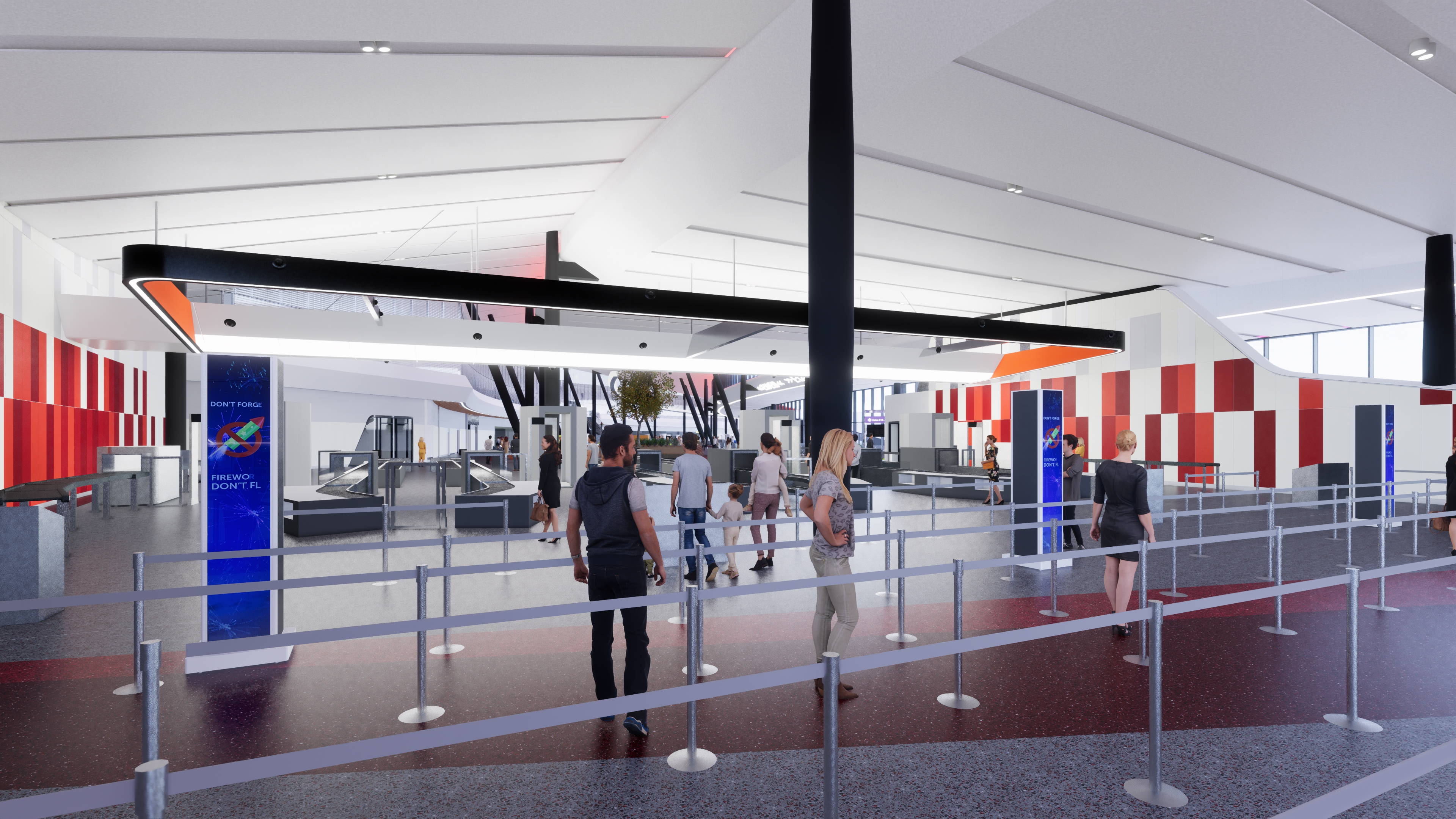 Terminal E Security Checkpoint Rendering