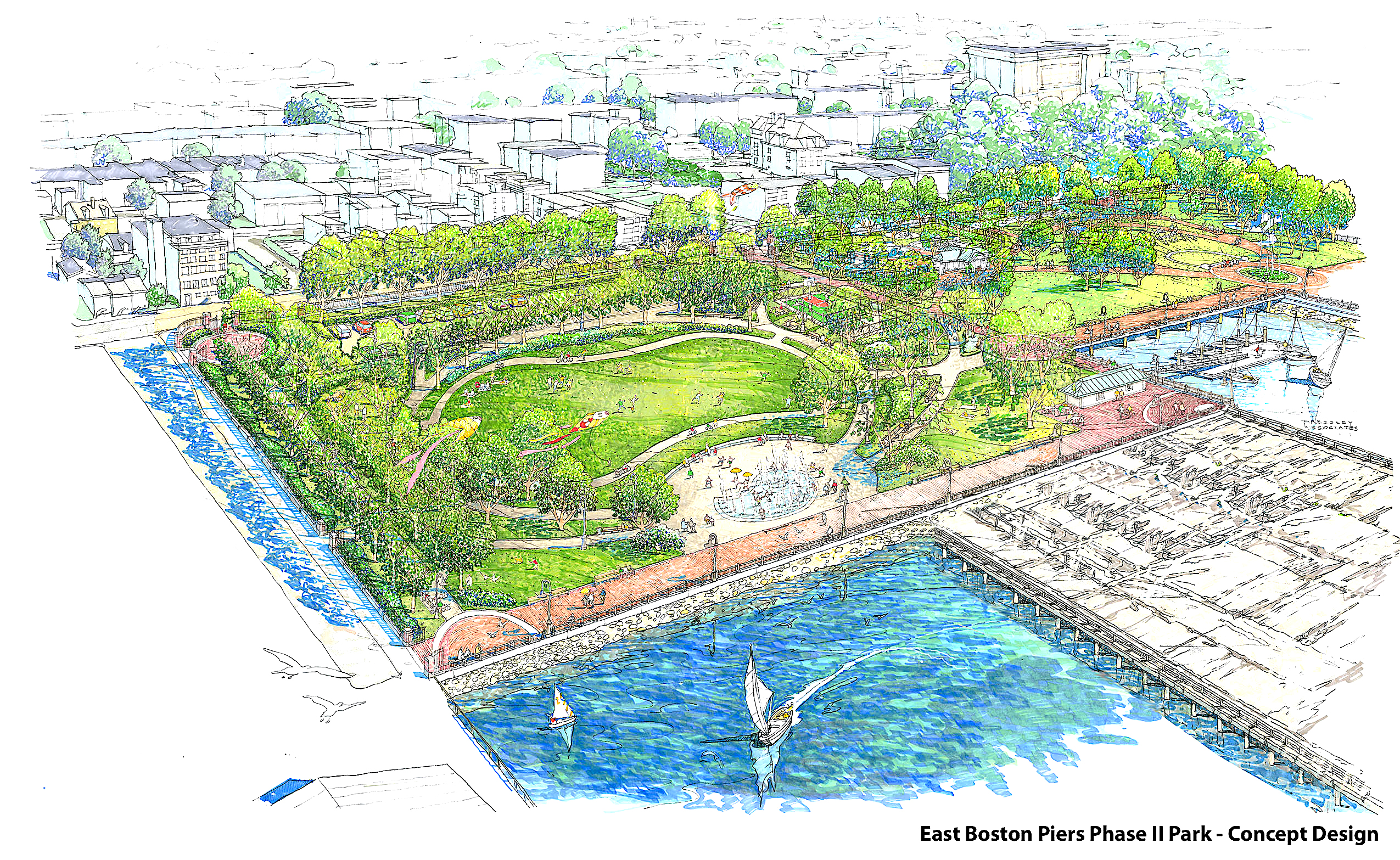 Piers Park II Design Illustration